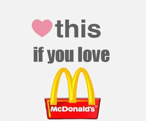 food, McDonald's, and me image