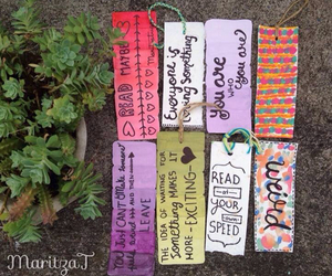 book, bookmark, and colors image