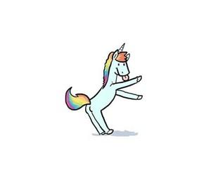 unicorn, overlay, and rainbow image