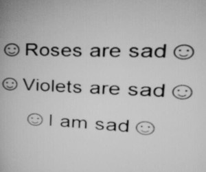 sad, pale, and roses image