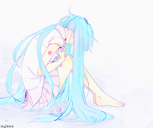blue hair, miku hatsune, and vocaloid image