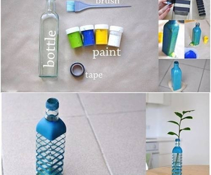 bottle, diy, and paint image