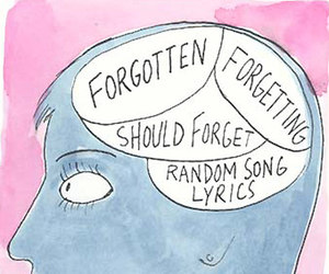 forget, brain, and Lyrics image