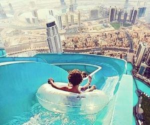 Dubai, pool, and summer image