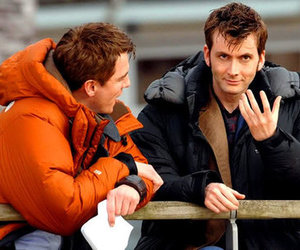 david tennant, john barrowman, and doctor who image