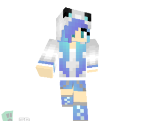 fille, Bleu, and minecraft image