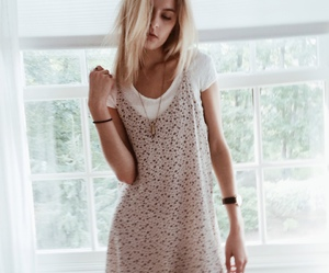 blonde, woman, and grunge image