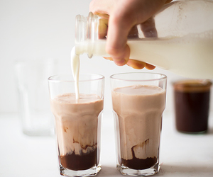 milk, chocolate, and drink image