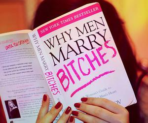 bitch, book, and men image
