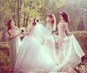 wedding, girl, and bride image