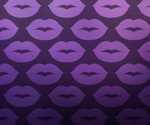kiss, wallpaper, and lips image