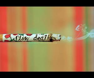 smoke, death, and cigarette image
