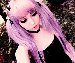 pastel goth, goth, and hair image