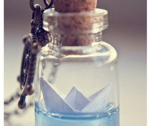 bottle, water, and boat image