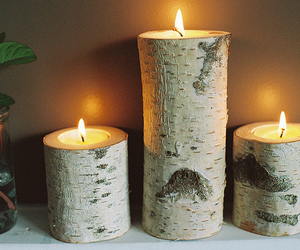 candle and wood image