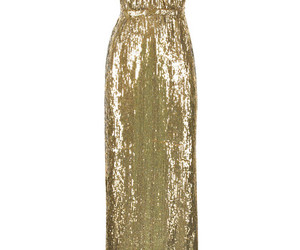 chiffon, dress, and gold image