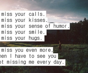 quote, i miss you, and love image