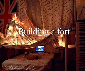 fort, bed, and bedroom image