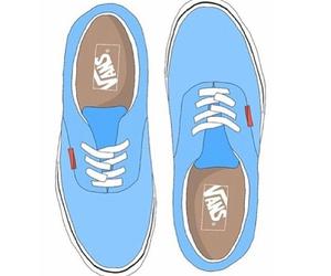 vans, transparent, and blue image