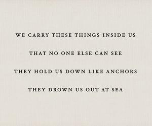 quotes, sad, and sea image