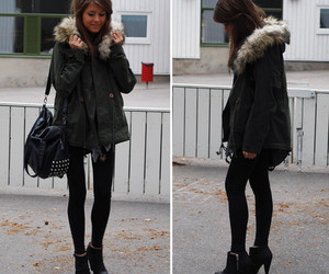 ankle boots, bag, and girl image