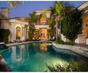 dream house and pool image