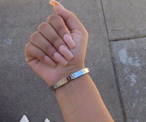 nails, bracelet, and pink image