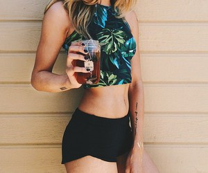 blonde, fashion, and summer image
