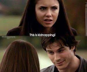 delena, damon, and Vampire Diaries image