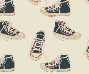 converse, wallpaper, and sneakers image