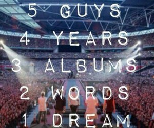 5 guys, 4 years, and one direction image