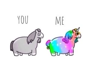 bitch, me, and unicorn image