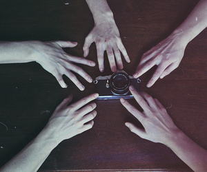 boy, camera, and hands image