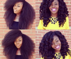 hair and natural hair image
