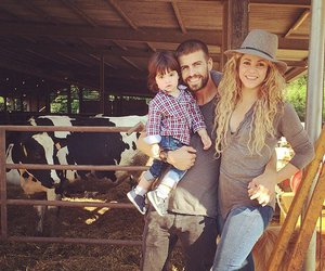 shakira, pique, and family image