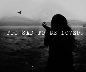 black and white, loved, and sad image
