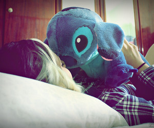 girl, stitch, and blue image