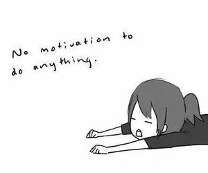 motivation, anime, and Lazy image
