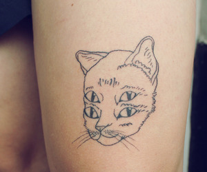 tattoo, cat, and eyes image