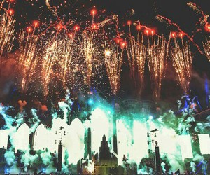 fireworks, rave, and Tomorrowland image