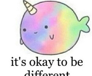 different, unicorn, and quote image