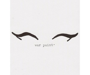 eyes, true story, and war paint image