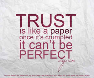 trust, quotes, and Paper image