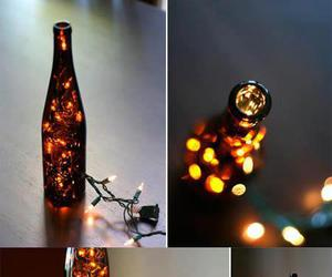 light, bottle, and lamp image