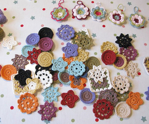 crafts, crochet, and flowers image
