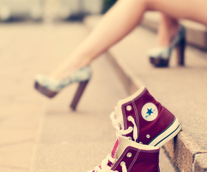 allstar, heels, and red image