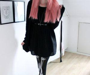 pastel, pink hair, and pastel goth image