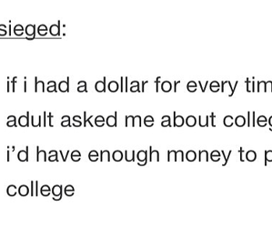 college, funny, and tumblr image