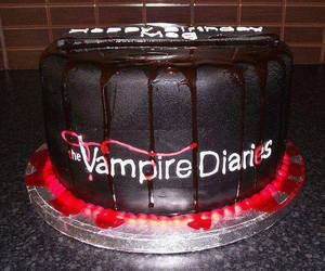 the vampire diaries, cake, and tvd image