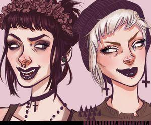 art, girl, and punk image